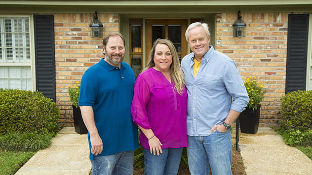 Homeowners Kenneth and Kym Sigler with Danny Lipford.