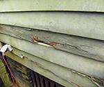 damaged wood siding