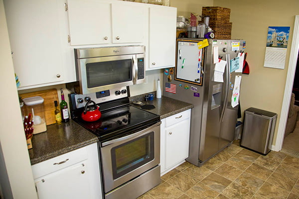 The Adamses' kitchen before the facelift.