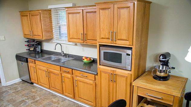 custom-built pantry