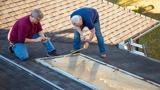 measuring skylights