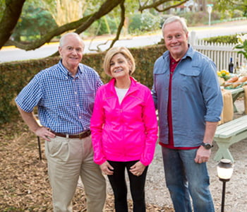 Homeowners Frank and Suzanne Hicks with Danny Lipford