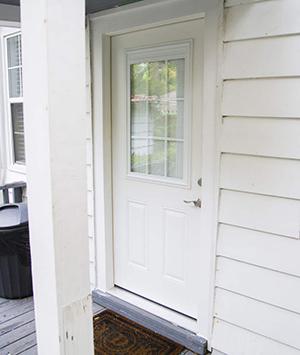 The DeKeysers' new exterior door