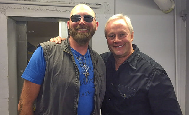 Danny and all-star musician Corey Smith are seen backstage before a recent concert.