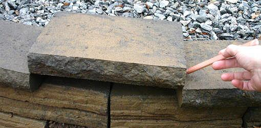 How To Cut And Install Retaining Wall Topper Stones