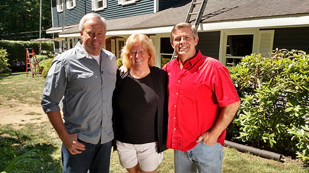Danny Lipford and Allen Lyle with homeowner