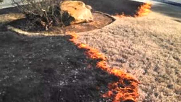 burning lawn