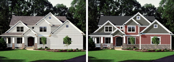 Before and after houses designed using Dream Designer
