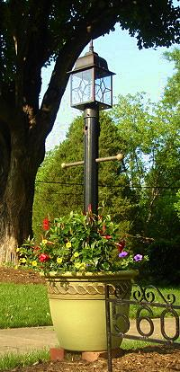 Light Post Planter For Your Yard