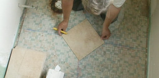 Fabulous How To Tile A Bathroom Floor Todays Homeowner Download Free Architecture Designs Sospemadebymaigaardcom
