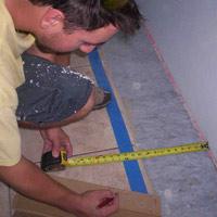 Measuring for border tile