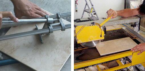 Scoring cutter                                               Wet saw
