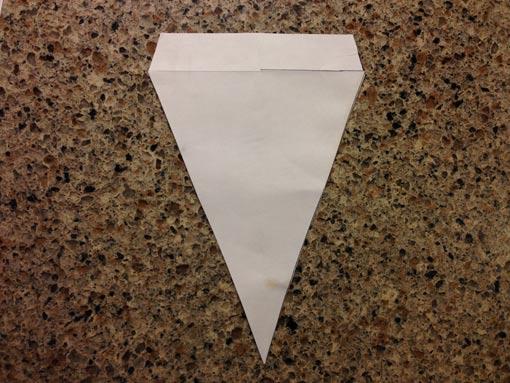 Diamond shape cut from computer paper