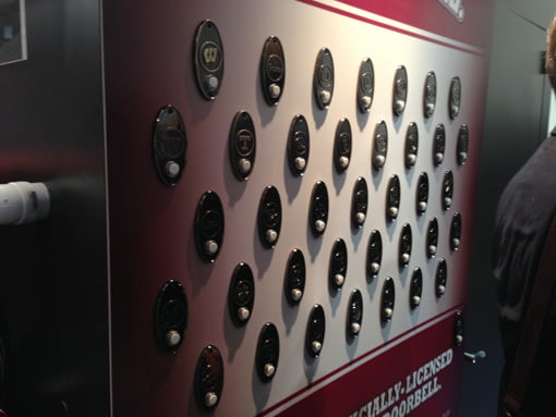 NuTone doorbell buttons in a variety of college logos