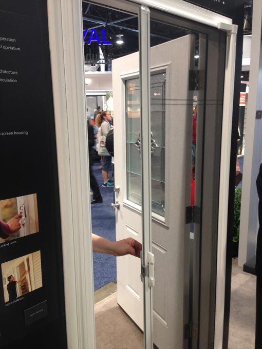ODL's Brisa door in action at the International Builders' Show