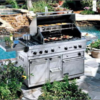 stainless steel modular grill unit