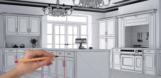 Architect draws kitchen upgrade plans