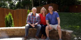 """Today's Homeowner"" host Danny Lipford, on patio sitting wall"