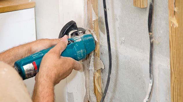 Cutting Drywall, Leaving Dust