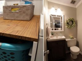 Laundry room and bathroom makeover