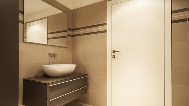 Wide bathroom door