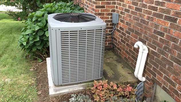 concrete slab for air conditioner