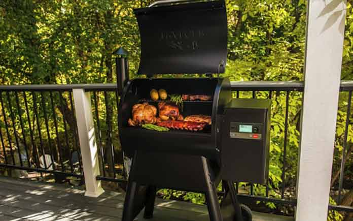 WIFI enabled wood pellet grill