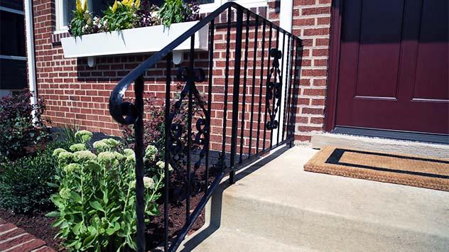 Hot wrought iron handrail