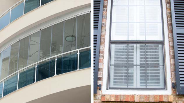 Plexiglass or glass windows