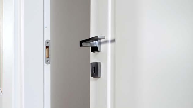 White door open