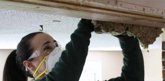 Woman adding Insulation