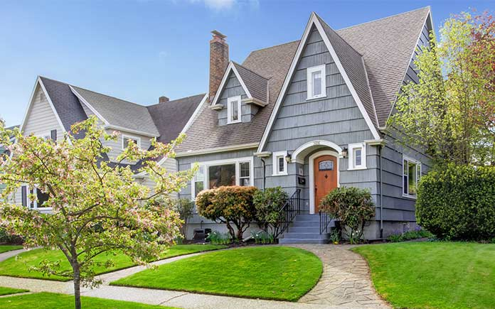 This home has curb appeal, but it's also at risk of flooding.