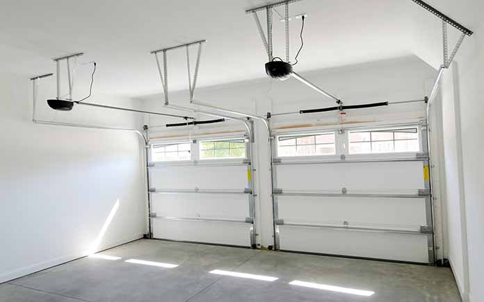 Garage door, inside view