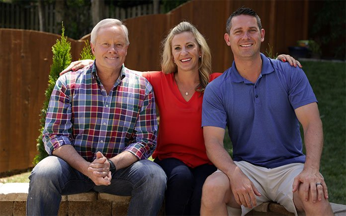 """""""Today's Homeowner"""" host Danny Lipford, with Sarah and Jason Gulley of Tennessee"""