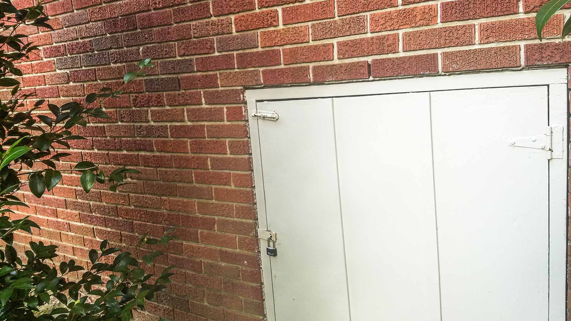 Brick home with a locked crawl space