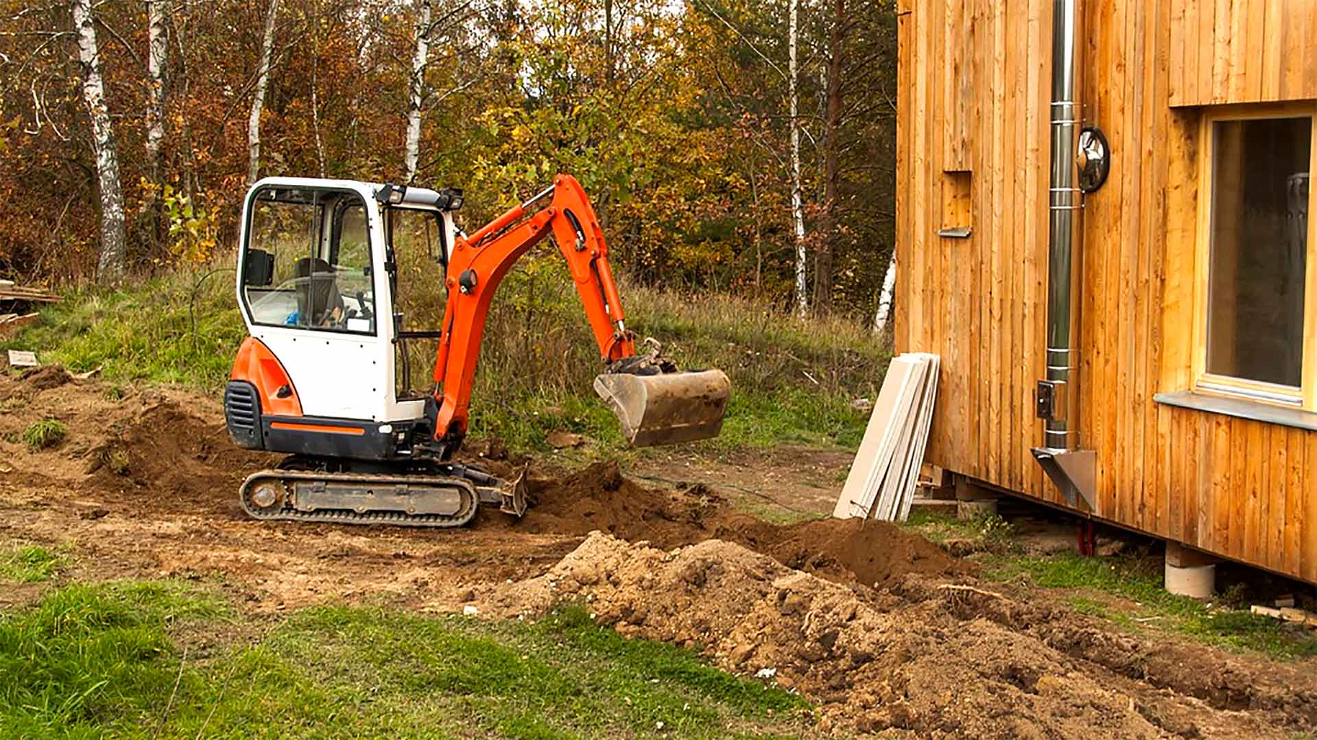 Excavating around home to build an addition