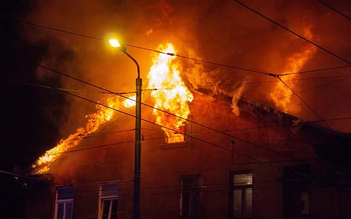 Wildfire destroys stick-built home