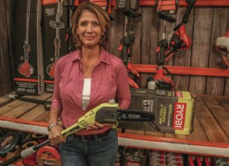 Jodi Marks with the Ryobi Pole Saw