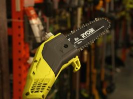 Ryobi pole saw, as as seen at The Home Depot in Mobile, Alabama