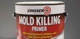 Can of Zinsser Mold Killing Primer.