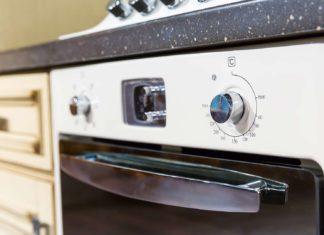 Exterior closeup of a kitchen oven