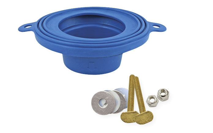 Fluidmaster Better Than Wax toilet seal with hardware