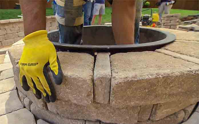 Installing Pavestone Paver Fire Fit