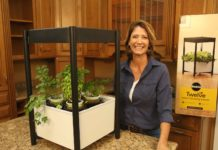 Jodi Marks with Miracle-Gro vegetable gardening system