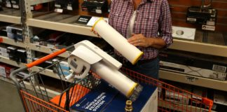Jodi Marks demonstrates the Smart GE Whole House Filtration System