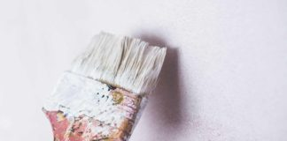 Paint brush with touch-up paint