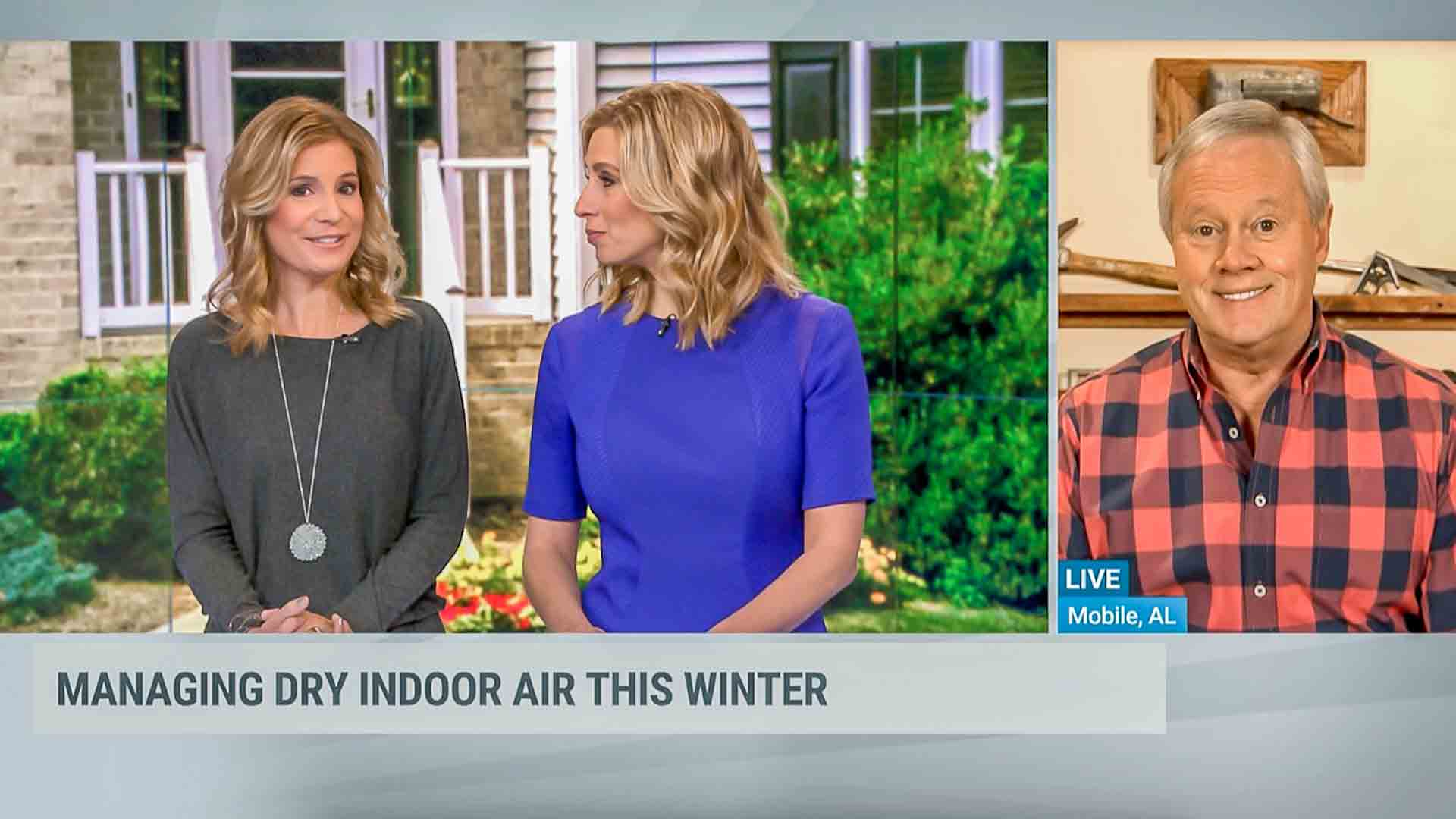 "Jenn Carfagno, Stephanie Abrams and Danny Lipford on ""AMHQ"" on The Weather Channel"
