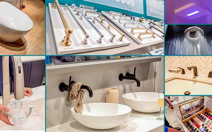 Bathroom ideas from the international builders show and the kitchen and bath industry show