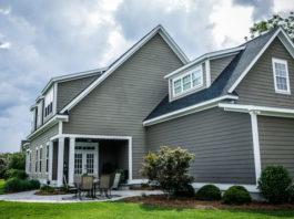 large grey house