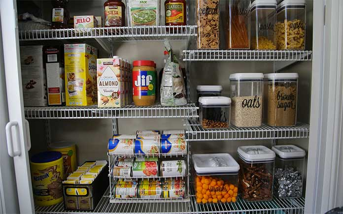 Inside clean pantry